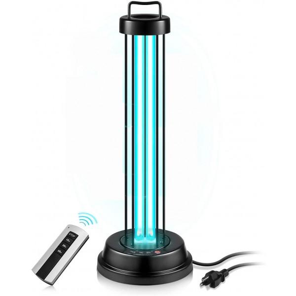 Germicidal UV Lamp Quartz Lamp 110V 60W Light with Timer Function & Remote