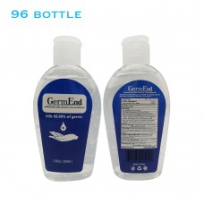 3.38 fl oz (100mL) Hand Sanitizer Gel 75% Alcohol w/ Aloe Vera Travel & Pocket Size (96 units/case)