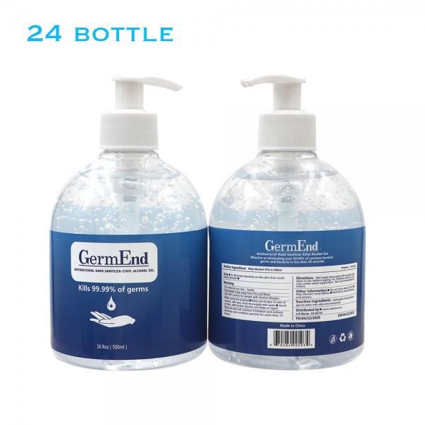 17 fl oz (500 ml) Hand Sanitizer Gel 75% Alcohol w/ Aloe Vera (24 units/case)