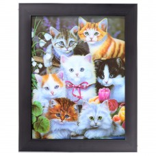104 Kittens 3D Picture size 14x18