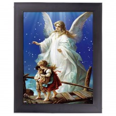 121 Religion Guardian Angel  3D Picture  size 14x18