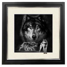 407  Wolf 5d Lenticular Picture Frame 18x18