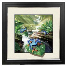 8413 LED Lighted Frog 5d Lenticular Picture Frame 18x18