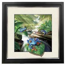 413 Frog 5d Lenticular Picture Frame 18x18