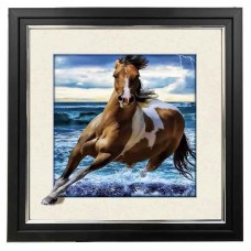 8425 LED Lighted Horse 5d Lenticular Picture Frame 18x18