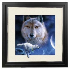 428 Wolf 5d Lenticular Picture Frame 18x18