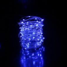 35ft LED Blue fairies string light copper-wire Dual power -USB or 2AA Battery