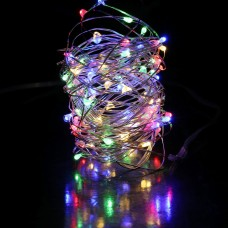 35ft LED multi fairies string light copper-wire Dual power -USB or 2AA Battery