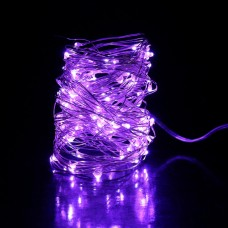 35ft LED PURPLE fairies string light copper-wire Dual power -USB or 2AA Battery