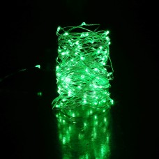 35ft LED GREEN fairies string light copper-wire Dual power -USB or 2AA Battery