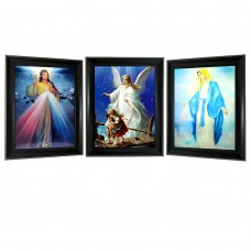 335 Tripple image Jesus, Mysteries of the Rosary