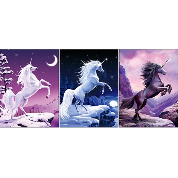 380 Mystical Unicorn 3D Triple Image