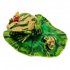 JF1494 Frog on Lily Pad Jewelry Case