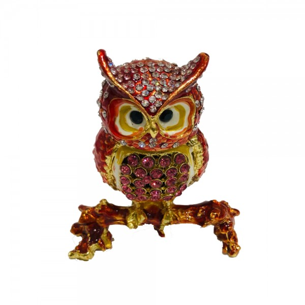 JF3054 Red Owl Jewelry Case Pink