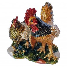 JF3493 Rooster Chicken Jewelry Case