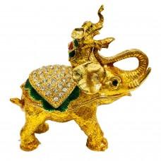 JF3611 S Golden Elephant Jewelry Case