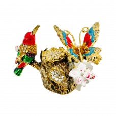 JF3638 Hummingbird & Butterfly Jewelry Case