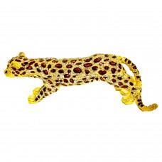 JF3639 Thousand Crystal Leopard Jewelry Case