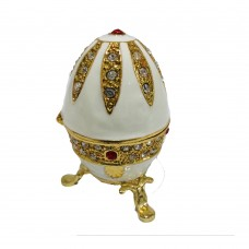 JF8208 White/Gold Egg Jewelry Casex