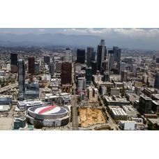Los Angeles Downtown Landscape  3D Lenticular w/ frame  size 34x51