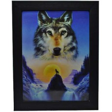 162 Wolf Sunset 3D Picture