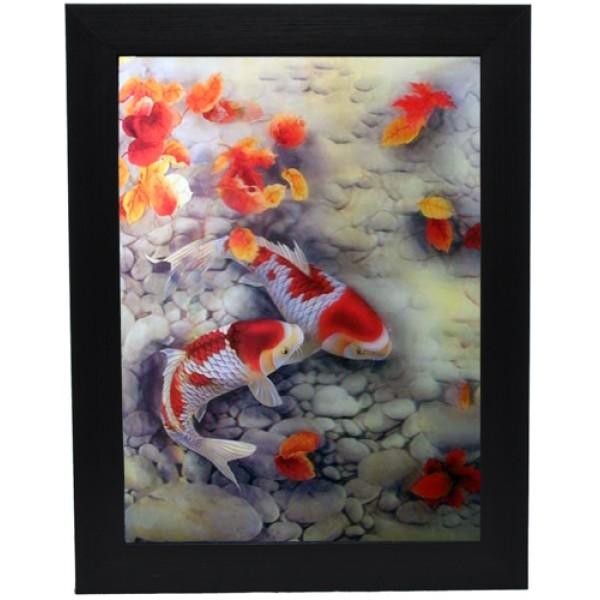 175 Koi Fish 3D Picture size 14x18