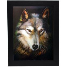 185 Wolf Head 3D Picture size 14x18
