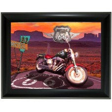 265 Harley Davidson on Route 66 3D Picture