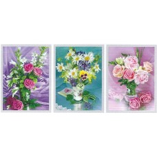 318 Rose flower 3D Triple Image