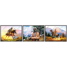 8347  LED Indian Hunter 3D Picture