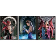 355 Dragon Fairies 3D Triple Image