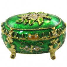 JF1091 Green & Gold Jewelry Case