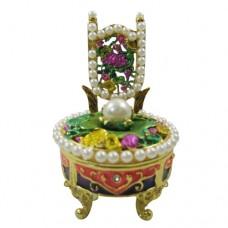JF1134 Jewelry Trinket Box-Pearl Chair