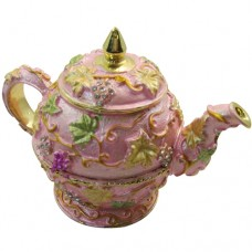JF1477 Light Purple Flower Teapot Jewelry Case