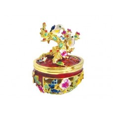 JF1490 Decorative Bejeweled Swarovski Crystal diamond Jewelry Trinket Box- Tree & Birds