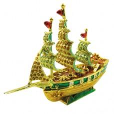 JF1691 Sail Boat Jewelry Case