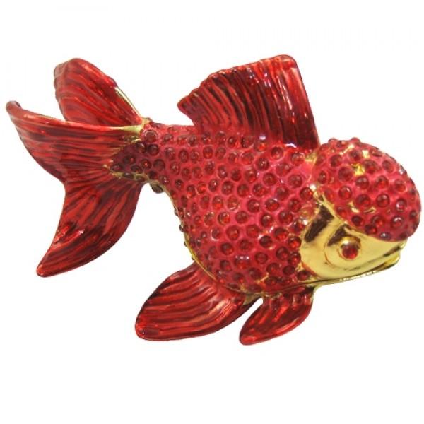 JF1789 Red Goldfish Jewelry Case