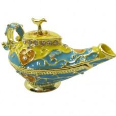 JF1794 Blue Aladdin Teapot Jewerly Case