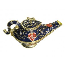 JF1794 Navy Aladdin Teapot Jewerly Case
