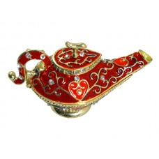 JF1794 Red Aladdin Teapot Jewerly Case