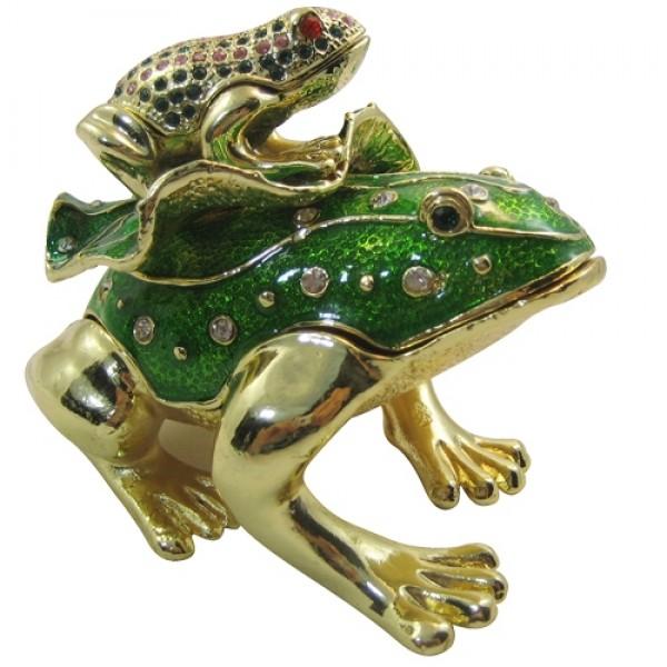 JF1798 Frogs Jewelry Case