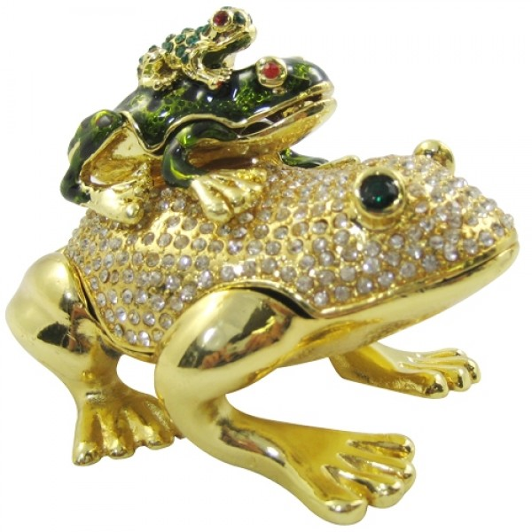 JF1799 Stacked Frogs Jewelry Case