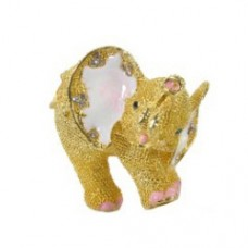 JF1835 Golden Elephant Jewelry Case