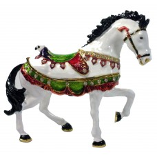 JF1884  White Horse Jewelry Case