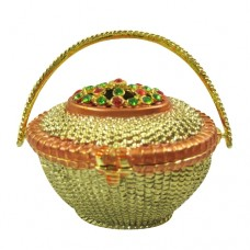JF1902 Flower Basket Jewelry Case