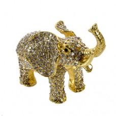 JF1973 Crystal Elephant Jewelry Case