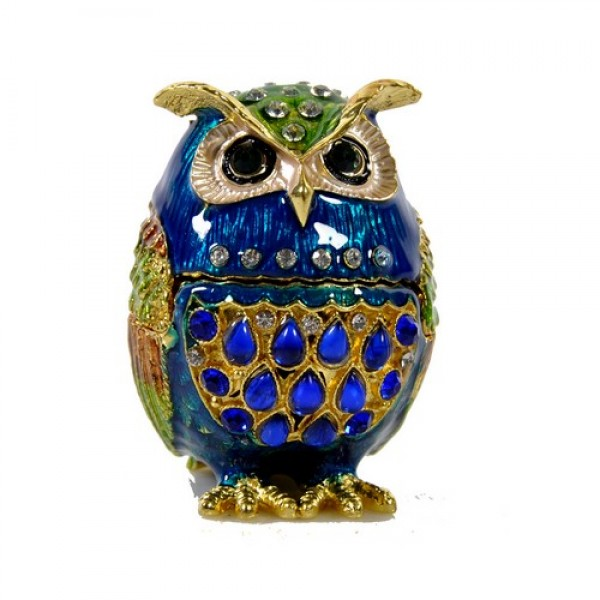 JF1982 Blue Owl Jewelry Case