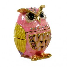 JF1982 Pink Owl Jewelry Case