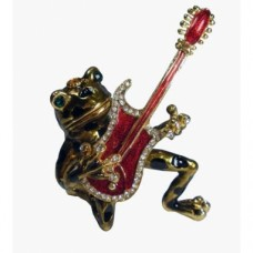 JF3256 Frog play guitar Jewelry Case
