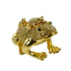 JF3316 Two Frog Jewelry Case